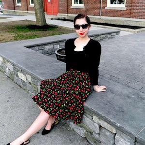 Dresses & Skirts - 🍒Retro Cherries Skirt🍒